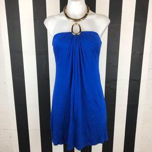 5 for $25 Cache Cobalt Blue Halter Mini Dress